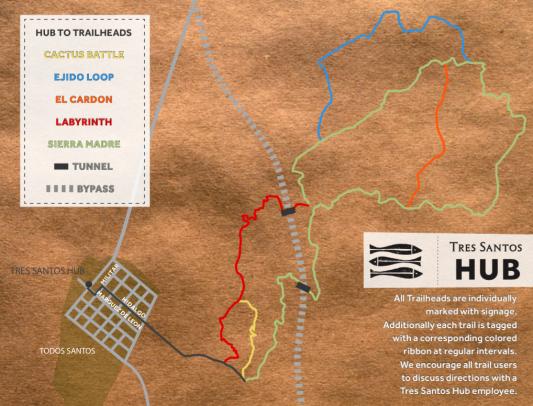 Tres Santos Hub To Trail Heads