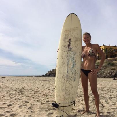 Surfing in Tres Santos, Todos Santos