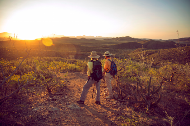 Hikers in todos santos- tres santos
